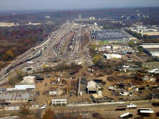 railroad yard aerial