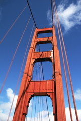 brückenpfeiler der golden gate bridge