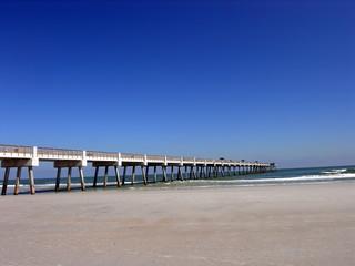 blue sky pier