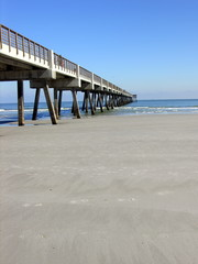 sand and pier
