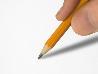 pencil in hand