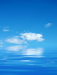 cloud over water
