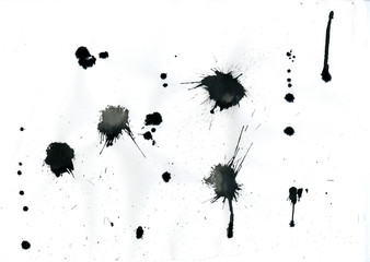 ink splatters on paper