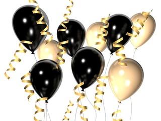 schwarz weiße ballons