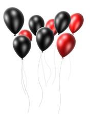 schwarz rote ballons
