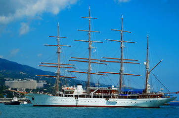 the floating sailing ship