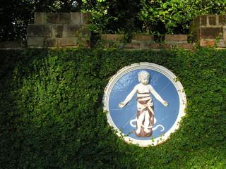 baby plaque in garden