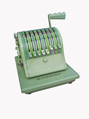 vintage check writing machine