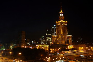 warsaw in the night