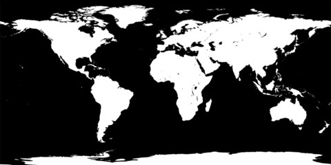 world cylindrical map- high detail vector