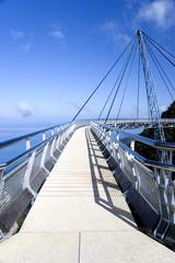 Printed kitchen splashbacks Bridge curved suspension bridge