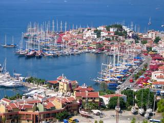 Foto op Aluminium Turkije marmaris harbor