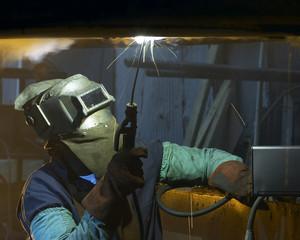 welder by night