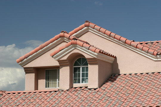 stucco home detail