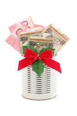 money gift for christmas