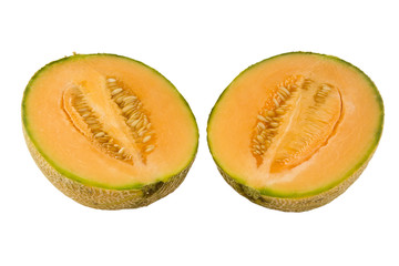 australian rockmelon in halves
