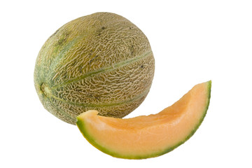 whole and slice of australian rockmelon