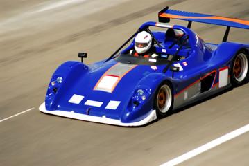 Deurstickers Snelle auto s blue racing car