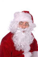 santa claus looking surprised