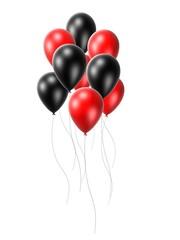 rot -schwarze ballons