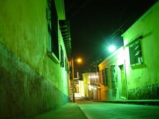 rue la nuit dans quetzaltenango