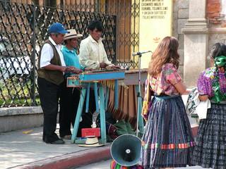 musiciens marché de quetzaltenango