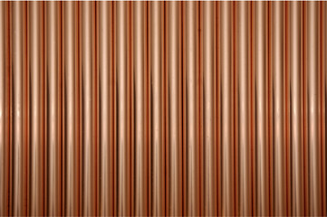 vertical copper tubes