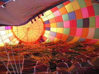 inside of a hot-air balloon