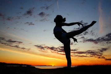 gymnastics at sunrise