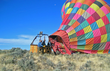after landing a hot-air balloon