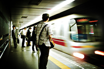 Foto auf AluDibond Tokio tokyo subway