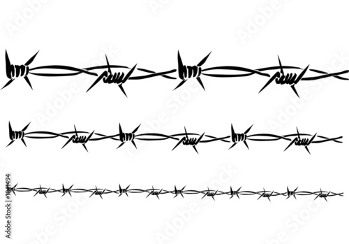 Quot barbed wire vector stock photo and royalty free