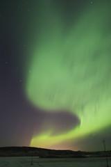 bright auroral activity