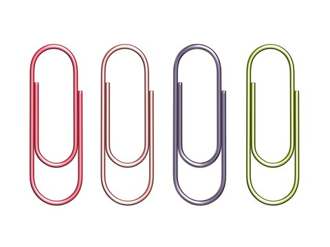 colorful paper clips trombones multicolores