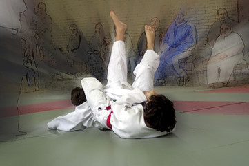ippon durch armhebel