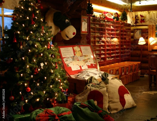 inside of the santa claus main post office - Post Office Christmas Hours