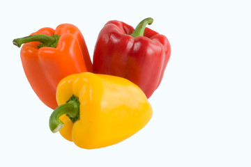 red yellow orange peppers