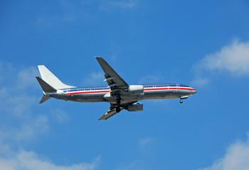 modern passenger jet at takeoff