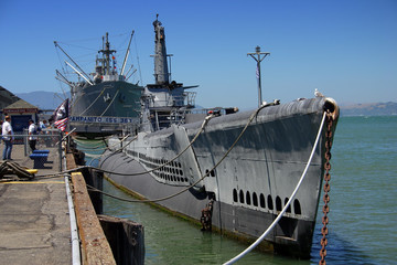 uss pampanito, american submarine in san francisco
