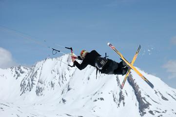 snowkite au col du petit saint bernard