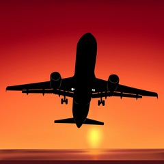 aeroplane silhouette 01