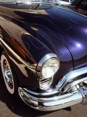 Fototapete - blue classic american hotrod