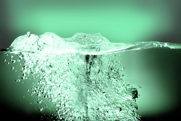 green water splash abstract background