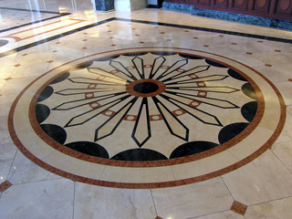 luxury hotel floor decoration