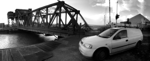 bridge down at the dock!