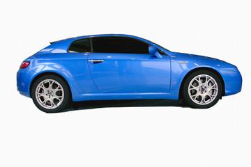 new blue sports car