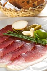 traditional prepared smoked ham