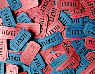 pink and blue tickets