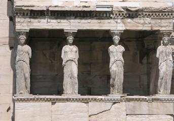 caryatids, erechtheion