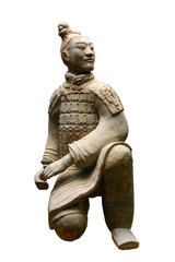 Keuken foto achterwand China isolated terracotta warrior (archer)